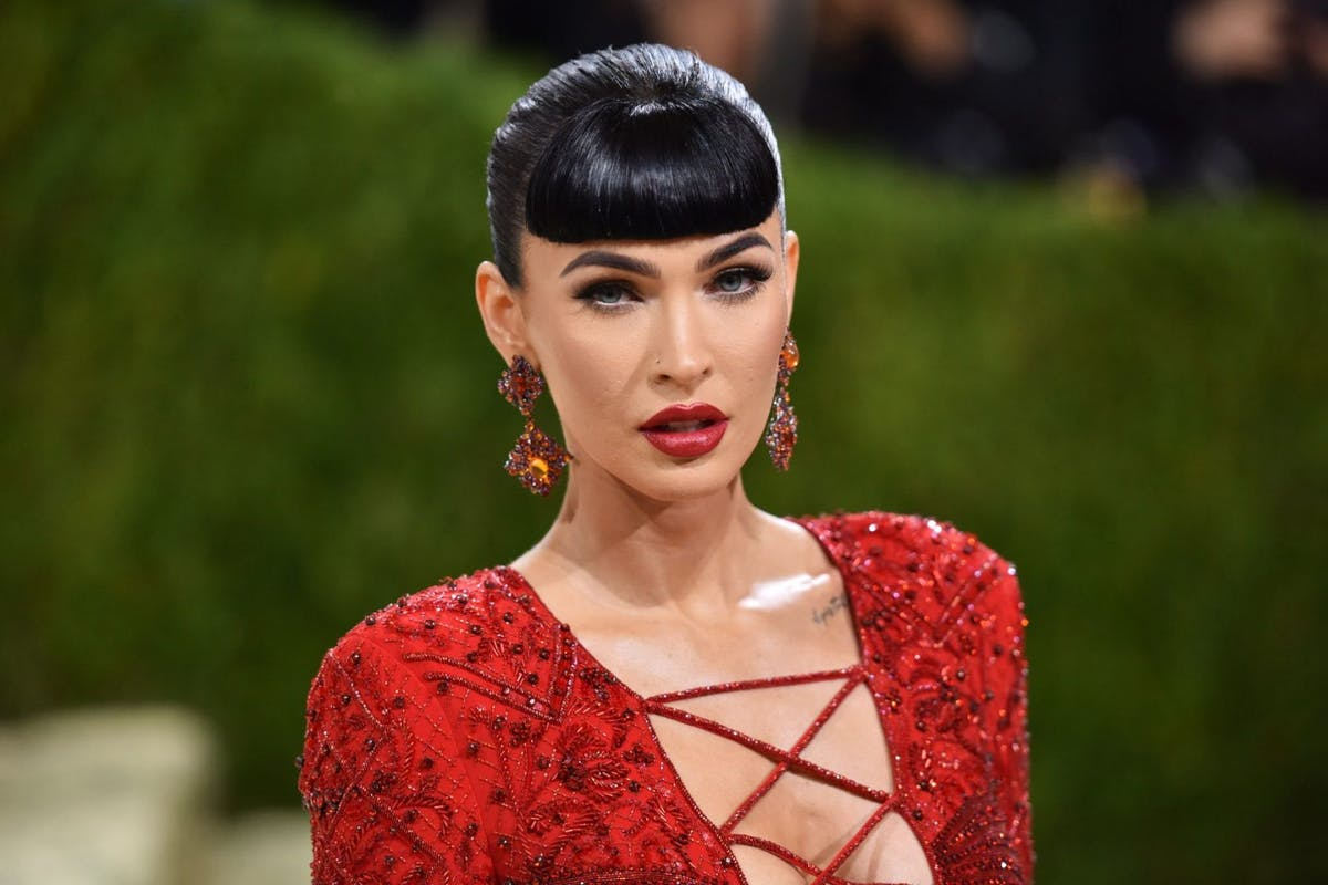 Megan Fox attends 2021 Costume Institute Benefit - In America: A Lexicon of Fashion at the Metropolitan Museum of Art on September 13, 2021 in New York City. (Photo by Sean Zanni/Patrick McMullan via Getty Images)