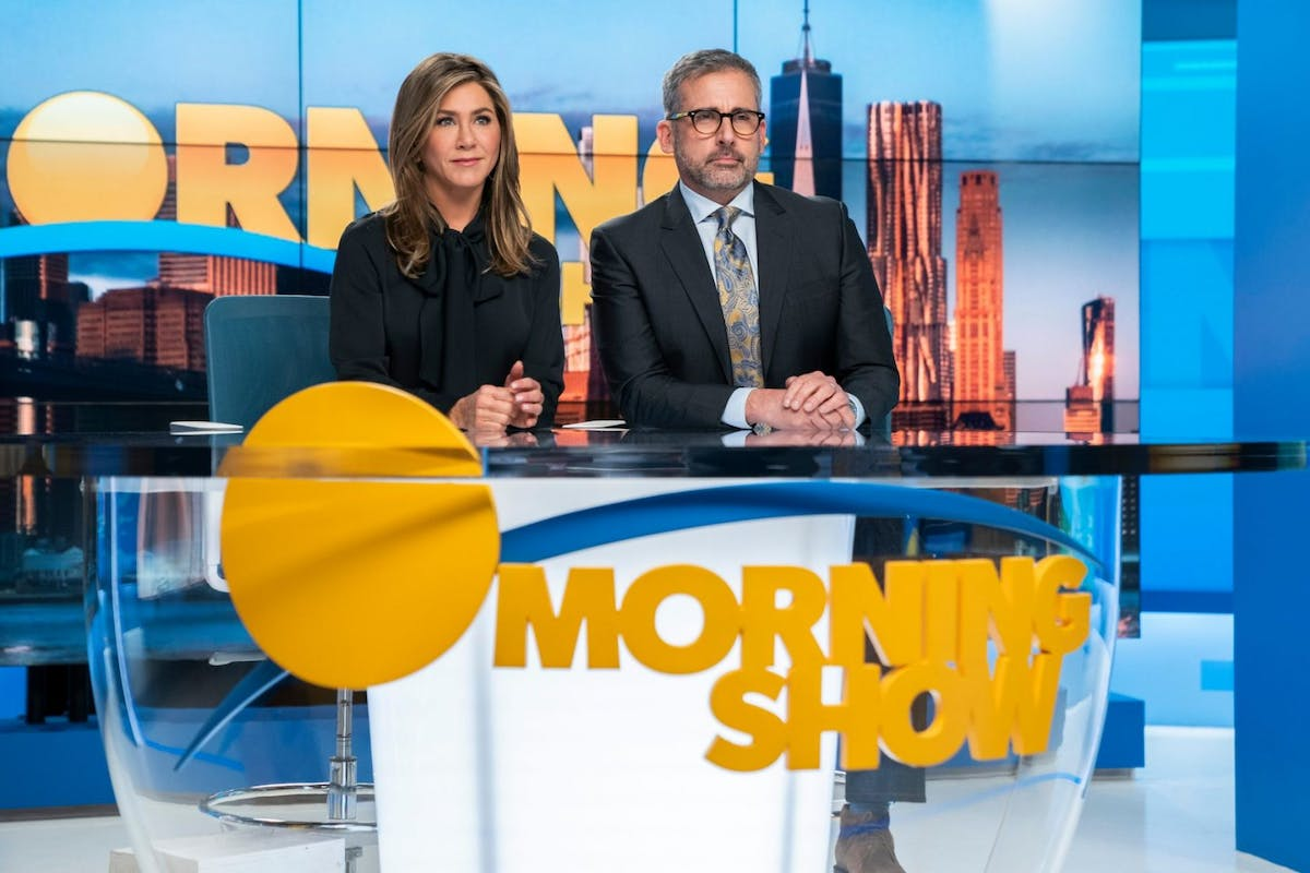 Jennifer Anniston and Steve Carell in season two of The Morning Show.
