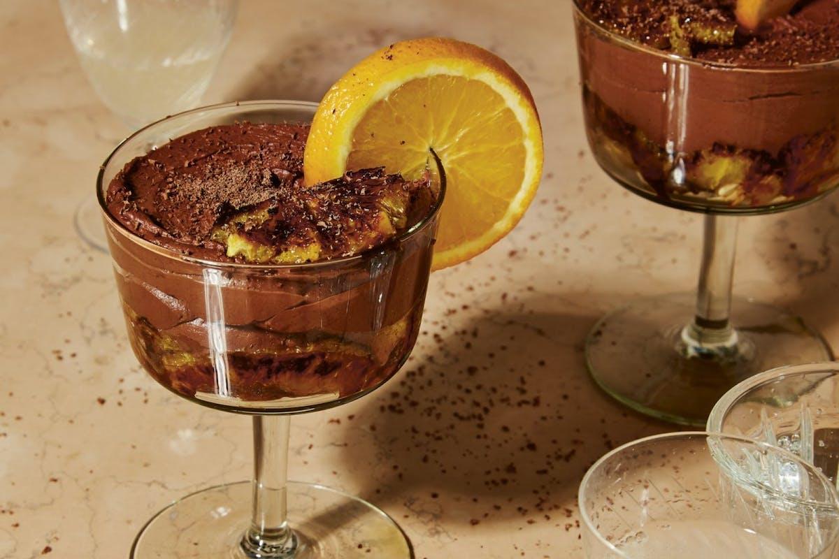 Chocolate orange and amaretto mousse