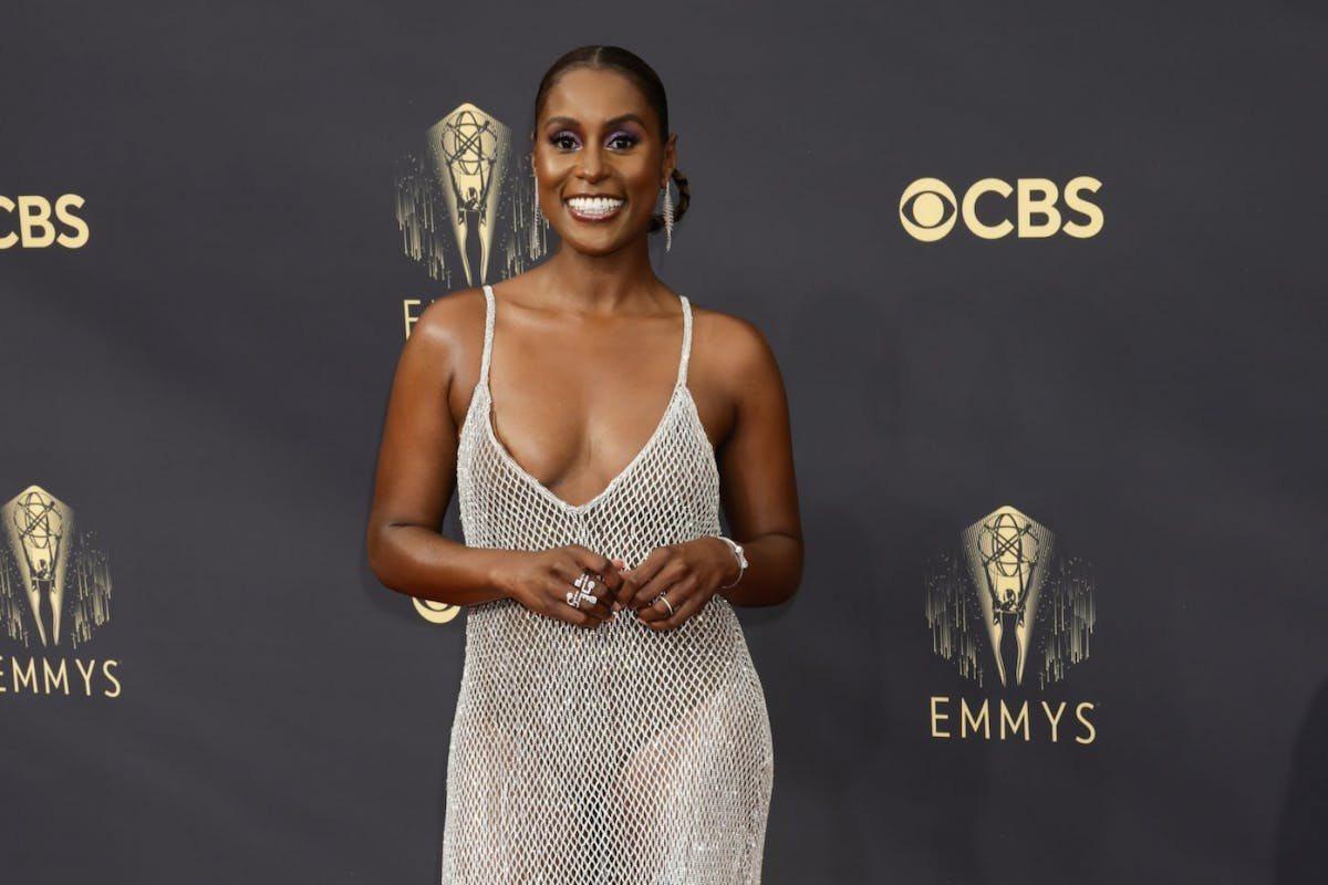 Issa Rae on the red carpet of the 2021 Emmys