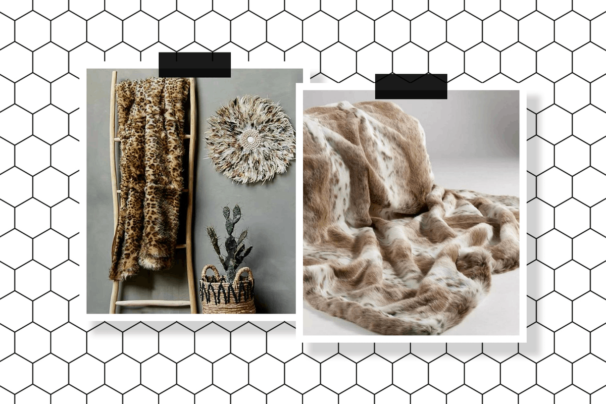 Faux fur throws to buy now