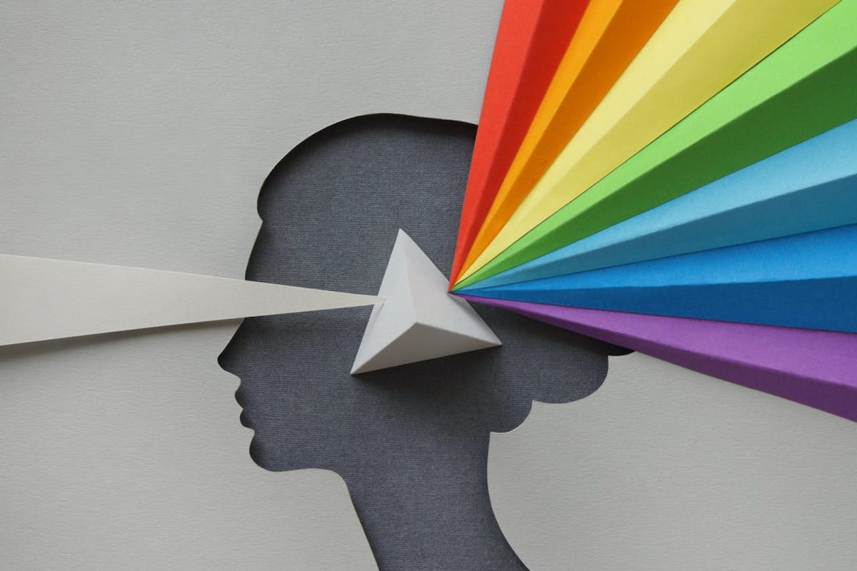 A woman whose brain works as a prism