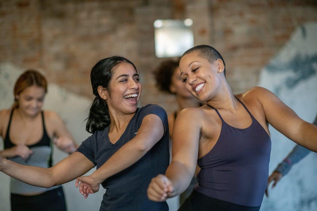 Women dancing in a workout class