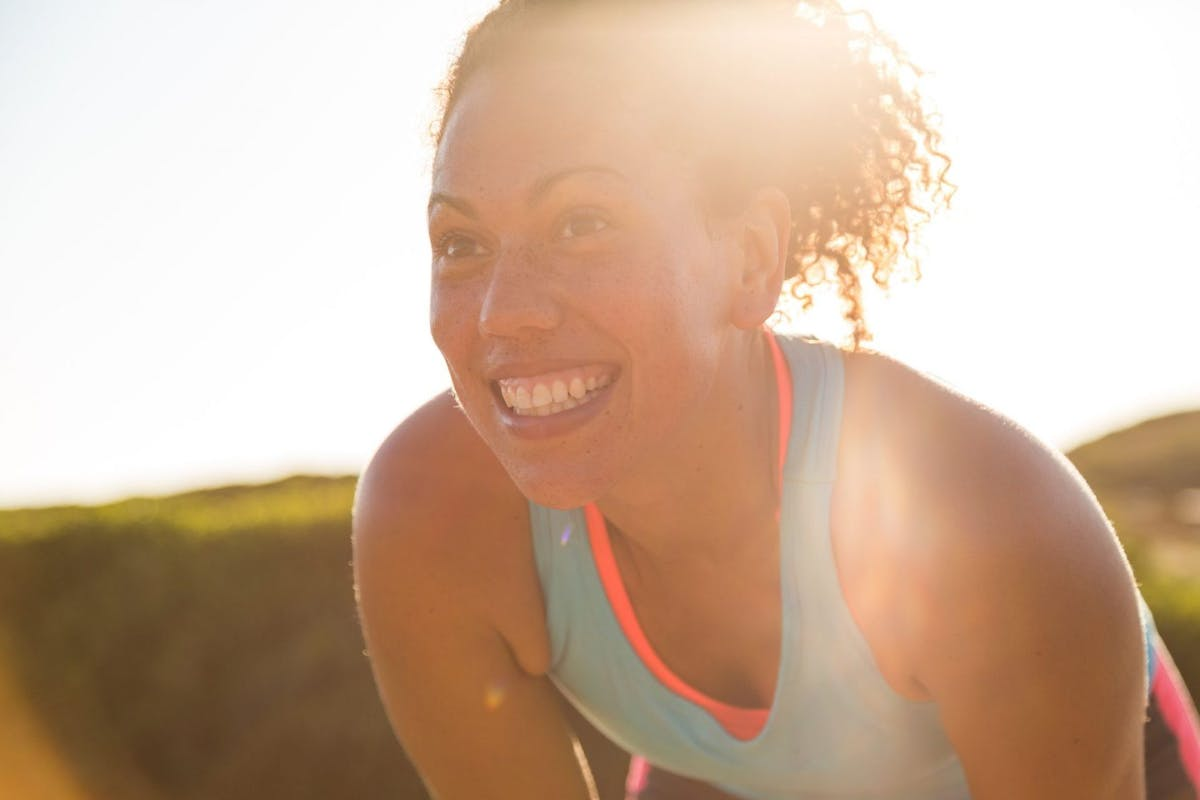 woman working out happy