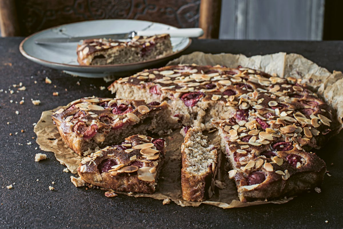 Cherry and almond bake