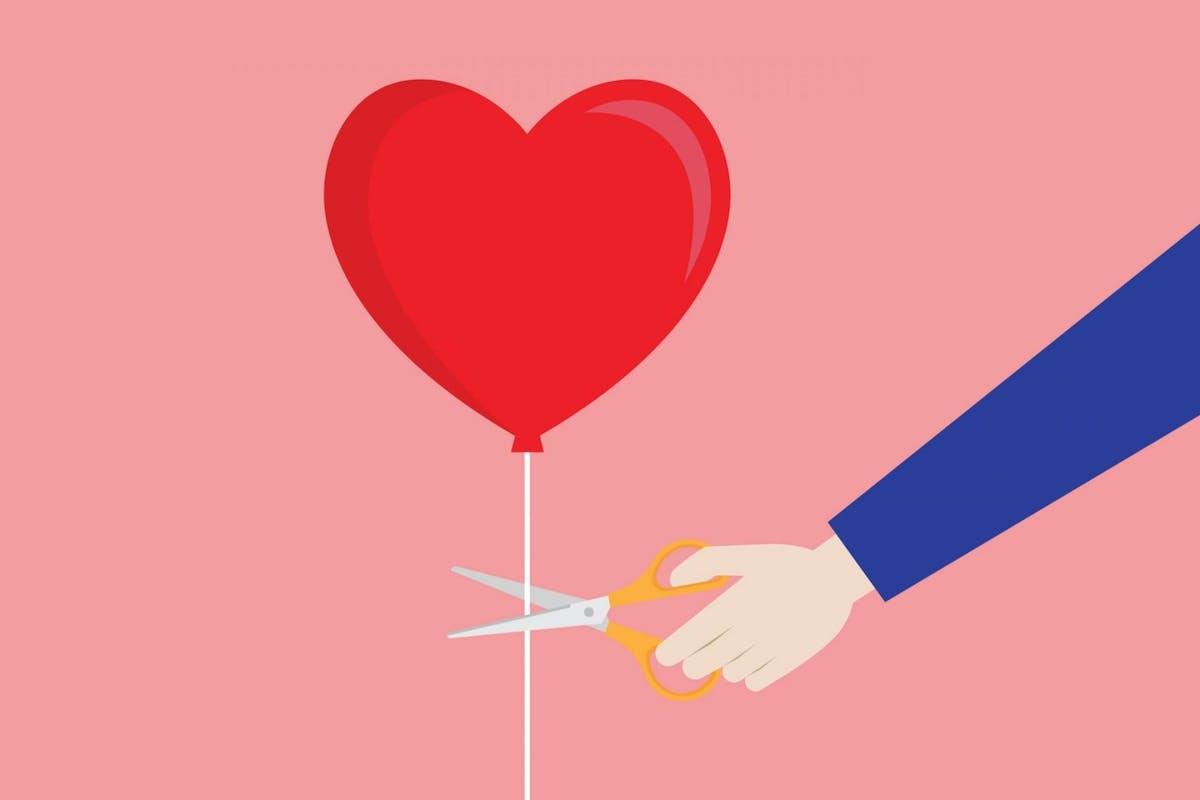 Heartbreak balloon