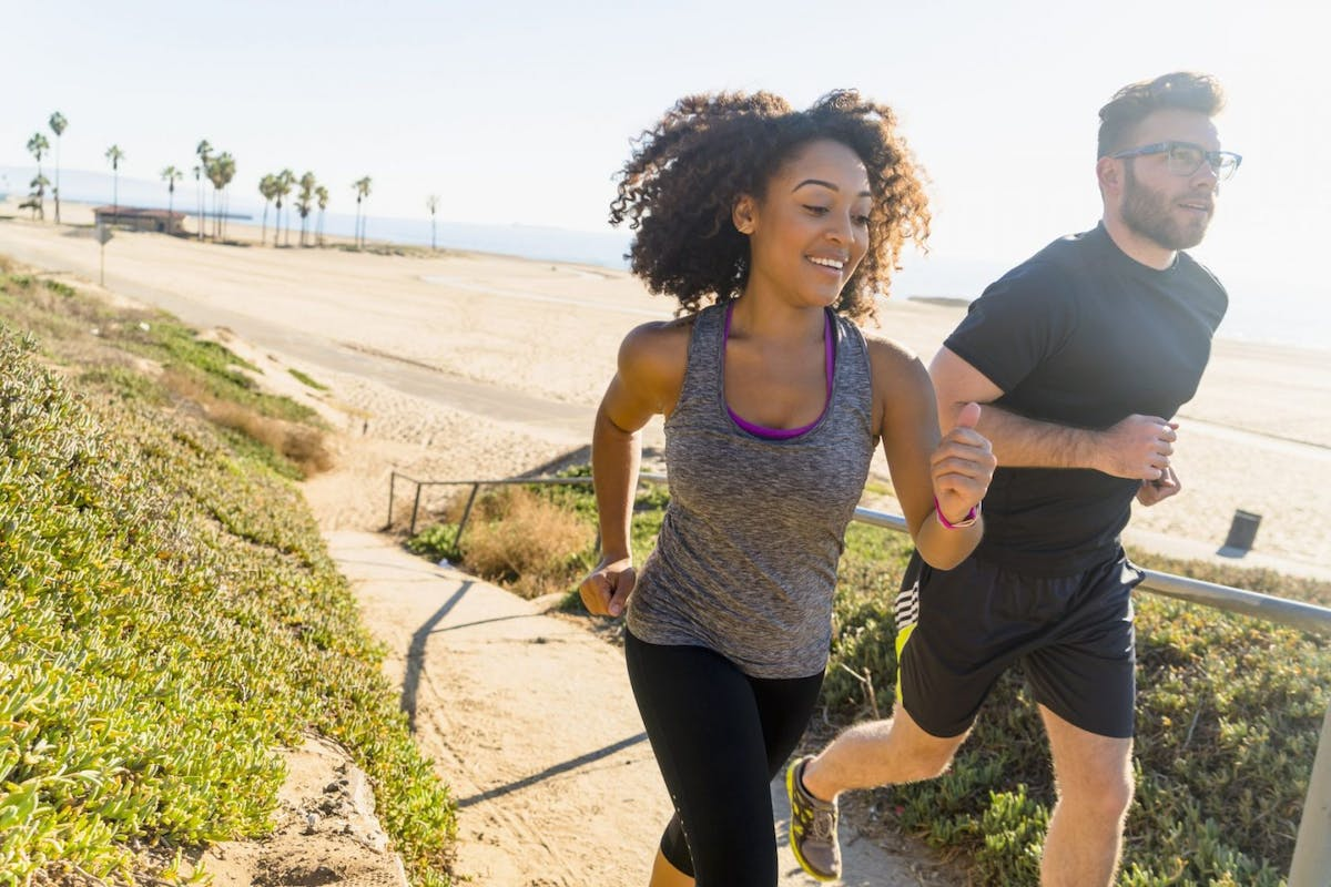 Try entering a running race with your partner.