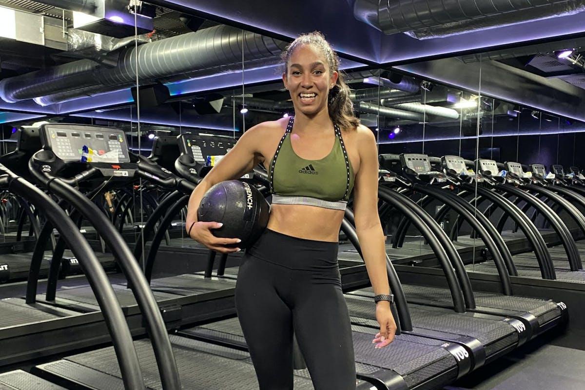 Kerry Dixon at a treadmill class